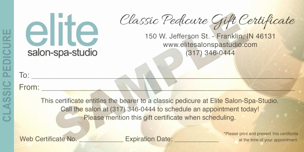 Spa Gift Certificates Templates Free Lovely Printable Massage T Certificate Template