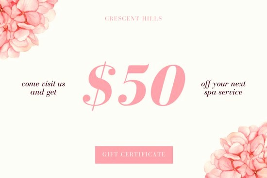 Spa Gift Certificates Templates Free Luxury Customize 131 Spa Gift Certificate Templates Online Canva