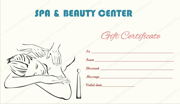 Spa Gift Certificates Templates Free Luxury Gift Certificate Templates