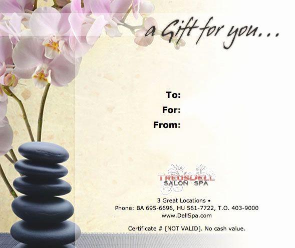 Spa Gift Certificates Templates Free Luxury Massage Certificate Work Pinterest