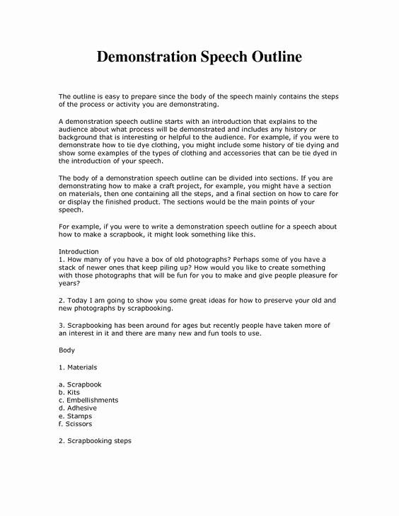 Special Occasion Speech Outline Template Inspirational Demonstrative Speech Outline Template Google Search