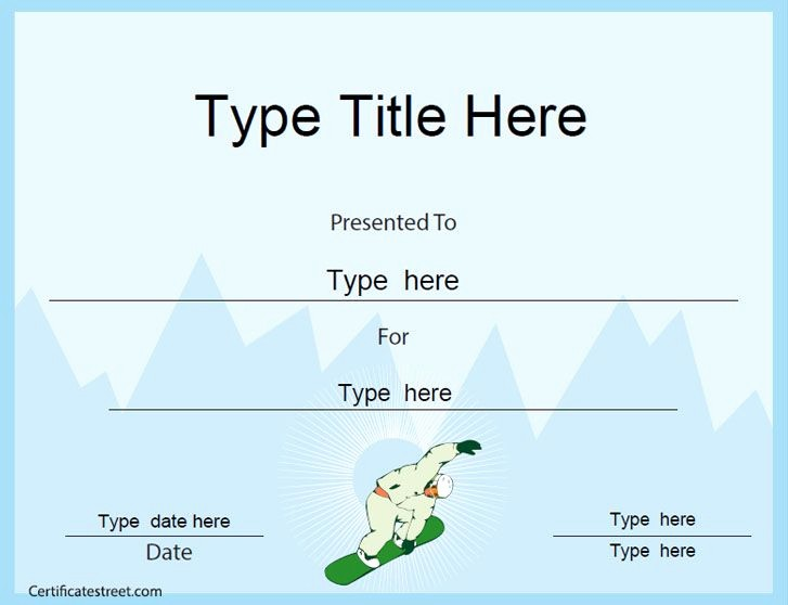 Sports Certificate Templates for Word Awesome 41 Best Sports Certificates