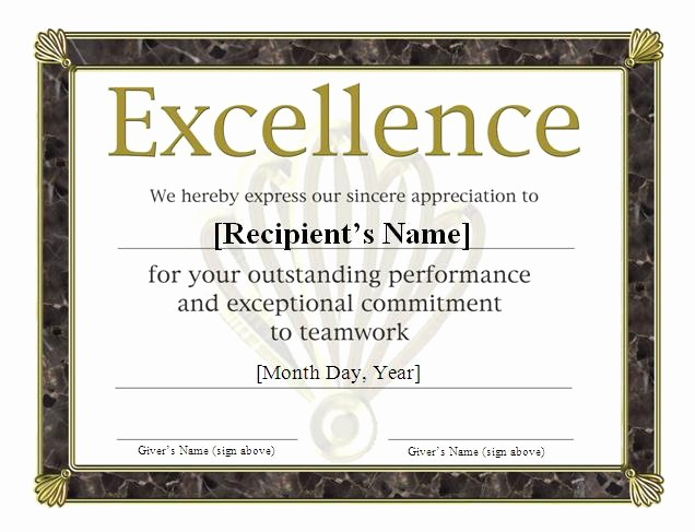 Sports Certificate Templates for Word Awesome Award Certificates for Sports