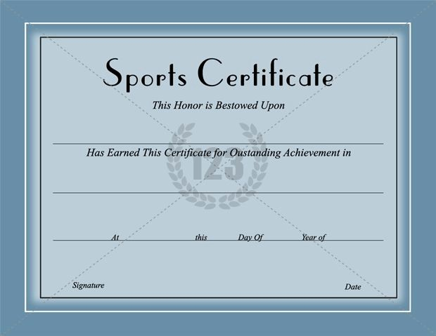 Sports Certificate Templates for Word Awesome Award them with Best Sports Certificates Template for Best