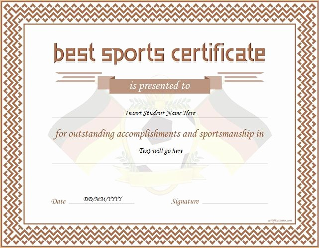 Sports Certificate Templates for Word Awesome Sports Certificate Templates for Ms Word