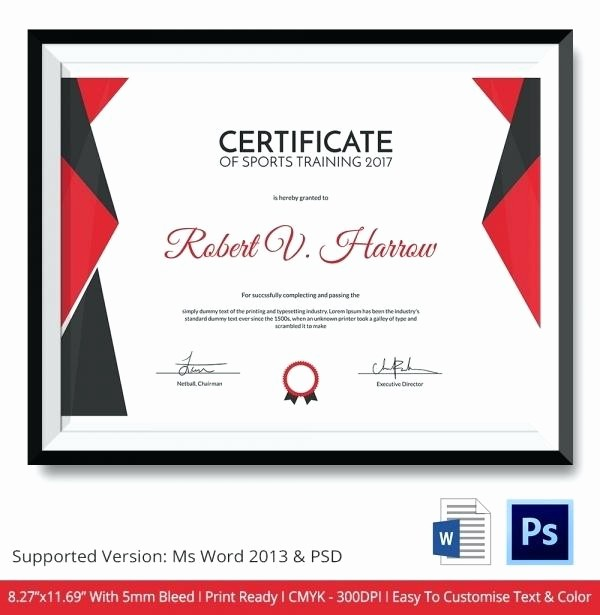Sports Certificate Templates for Word Best Of Sports Certificate Templates Netball Star Template with