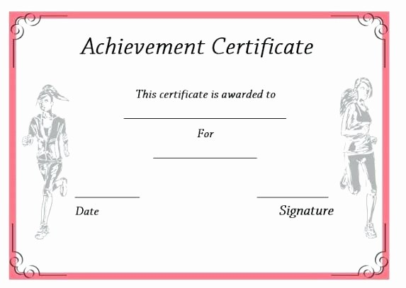 Sports Certificate Templates for Word Elegant Sports Certificate Design Vector Certificates Template for