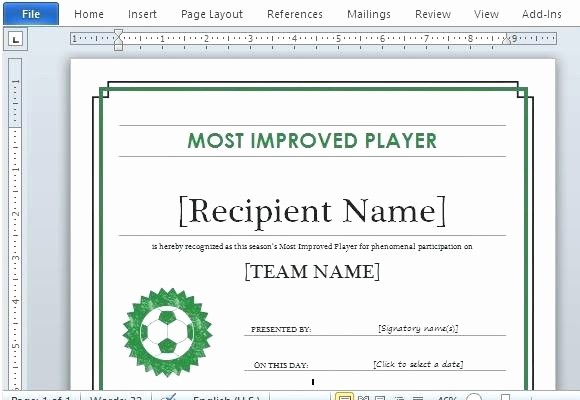 Sports Certificate Templates for Word Fresh Certificate Templates Word – Puebladigital
