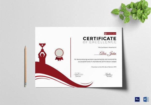 Sports Certificate Templates for Word Fresh Sports Certificate Template 16 Word Psd format