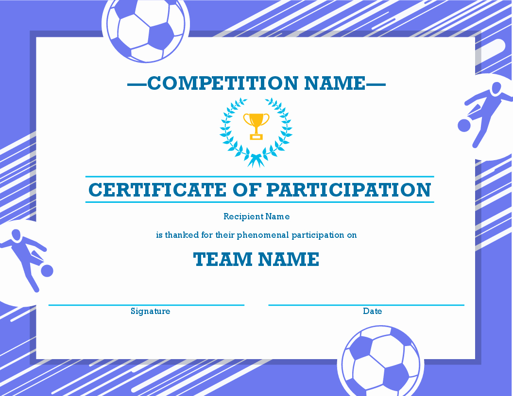 Sports Certificate Templates for Word Inspirational Certificates Fice
