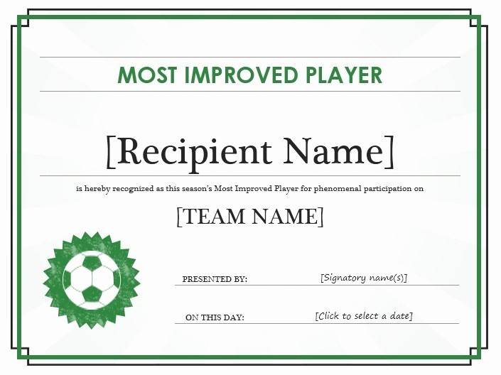 Sports Certificate Templates for Word Lovely 13 Free Sample soccer Certificate Templates Printable