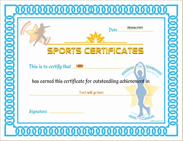 Sports Certificate Templates for Word Luxury Sports Certificate Templates for Ms Word