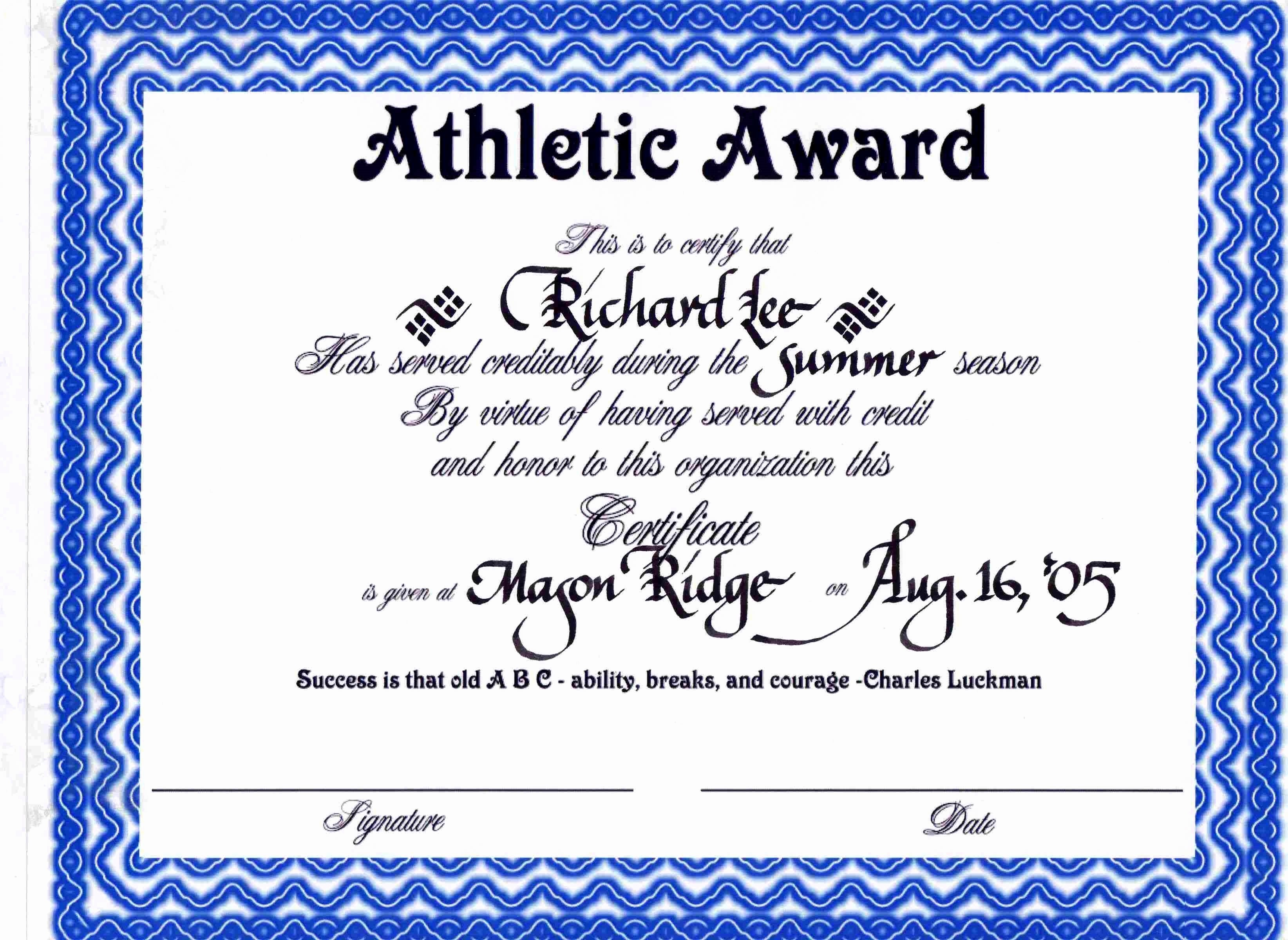 Sports Certificate Templates for Word New Sports Certificate Templates Portablegasgrillweber