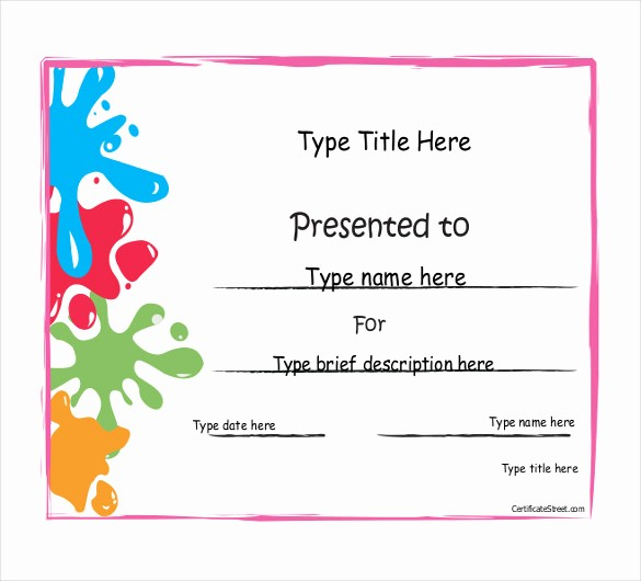 Sports Certificate Templates for Word Unique Achievement Award Template 12 Word Pdf Documents