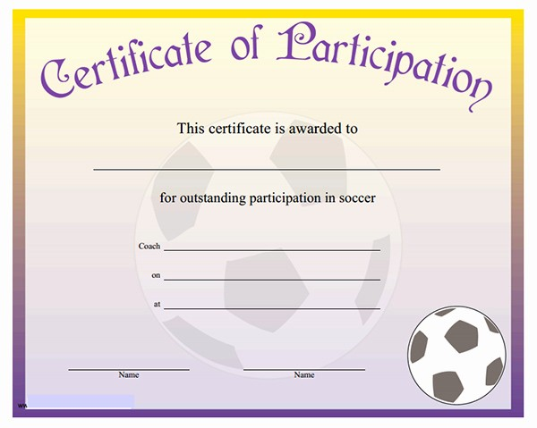 Sports Certificate Templates for Word Unique Printable Sports Certificates