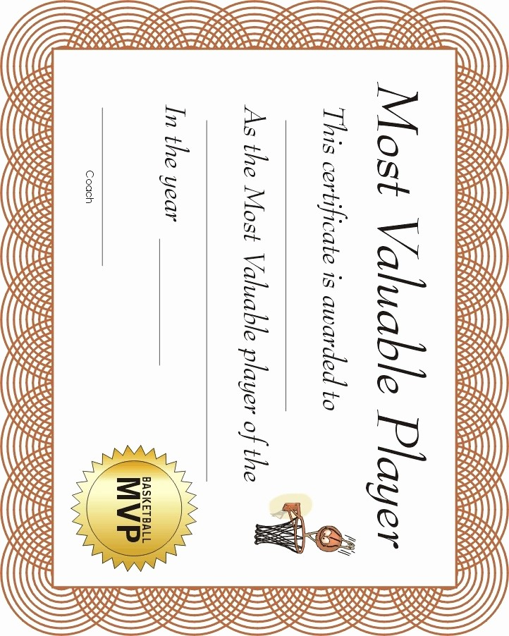 Sports Certificates Templates Free Download Best Of 12 Best Images About Basketball Award Ideas On Pinterest