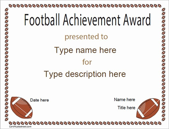 Sports Certificates Templates Free Download Best Of 17 Sample Football Certificate Templates to Download
