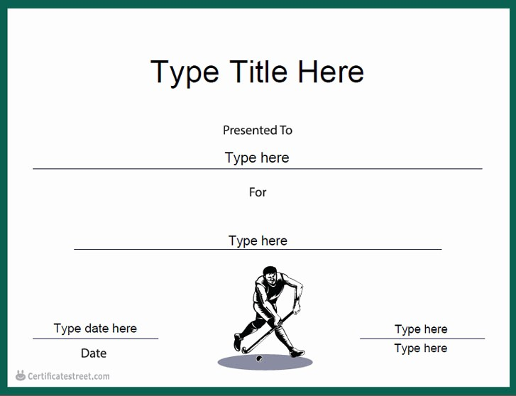 Sports Certificates Templates Free Download Best Of Hockey Certificate Templates Free Estudiocheirodeflor