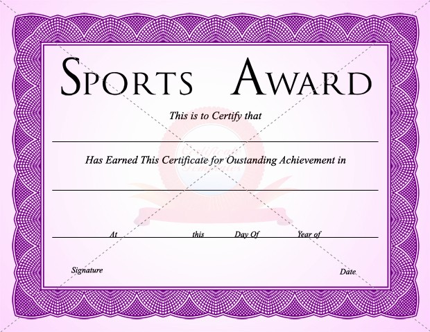 Sports Certificates Templates Free Download Elegant 10 Sports Certificate Templates