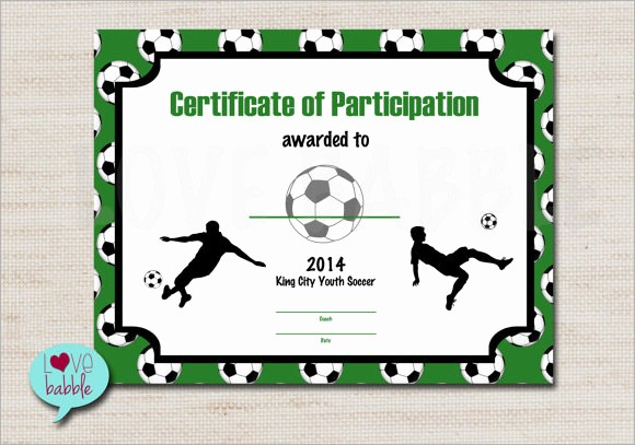Sports Certificates Templates Free Download Elegant 17 Sample Football Certificate Templates to Download