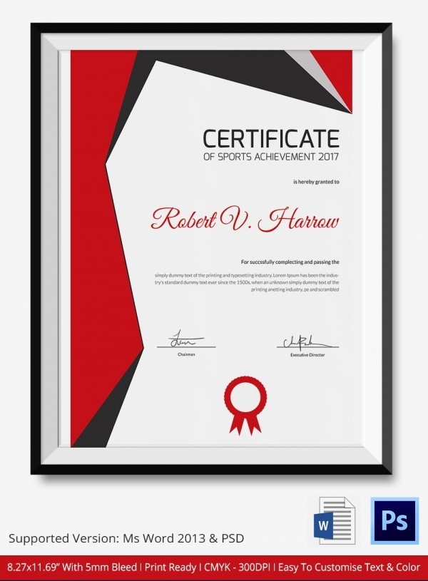 Sports Certificates Templates Free Download Elegant 8 Sports Certificate Templates Free Sample Example