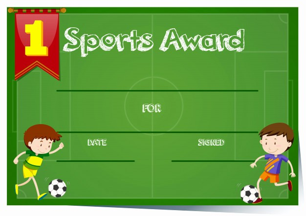 Sports Certificates Templates Free Download Fresh Certificate Template for Sports Award Vector