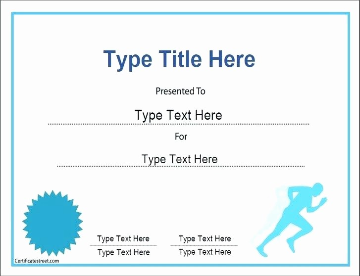Sports Certificates Templates Free Download Fresh Certificates Of Achievement Free Templates – Puebladigital