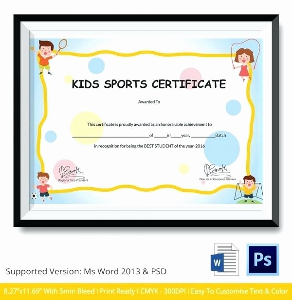 Sports Certificates Templates Free Download Inspirational Childrens Sports Day Certificates Templates athletic