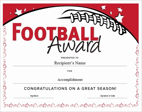 Sports Certificates Templates Free Download Lovely Football Certificate Templates Free Invitation Template