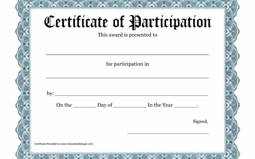 Sports Certificates Templates Free Download Lovely Printable Certificate Participation Program
