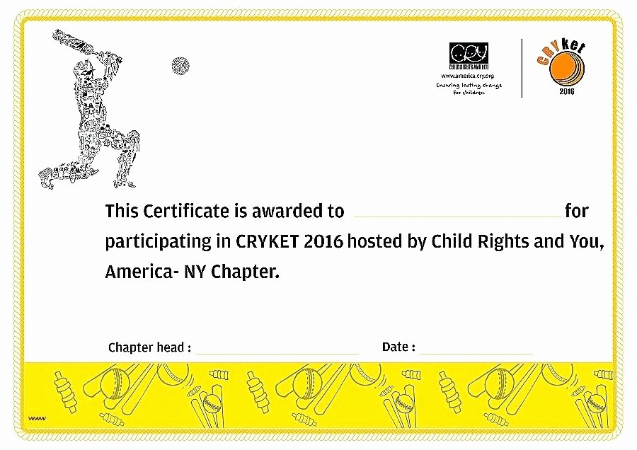Sports Certificates Templates Free Download Lovely Template Sports Certificate Template Cricket Templates