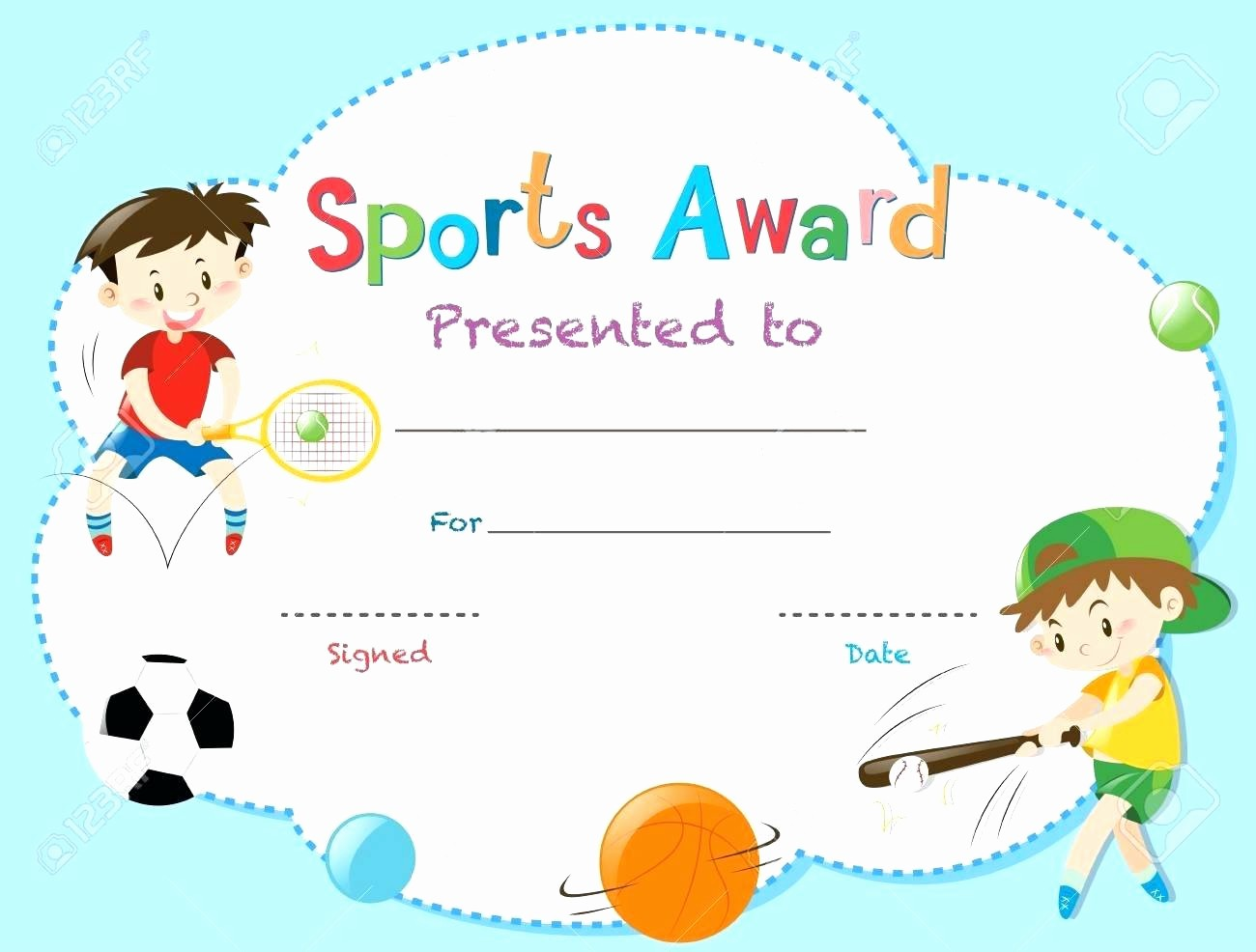 Sports Certificates Templates Free Download Lovely Template Sports Certificate Template