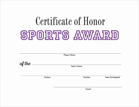 Sports Certificates Templates Free Download Luxury 14 Printable Certificate Templates to Download