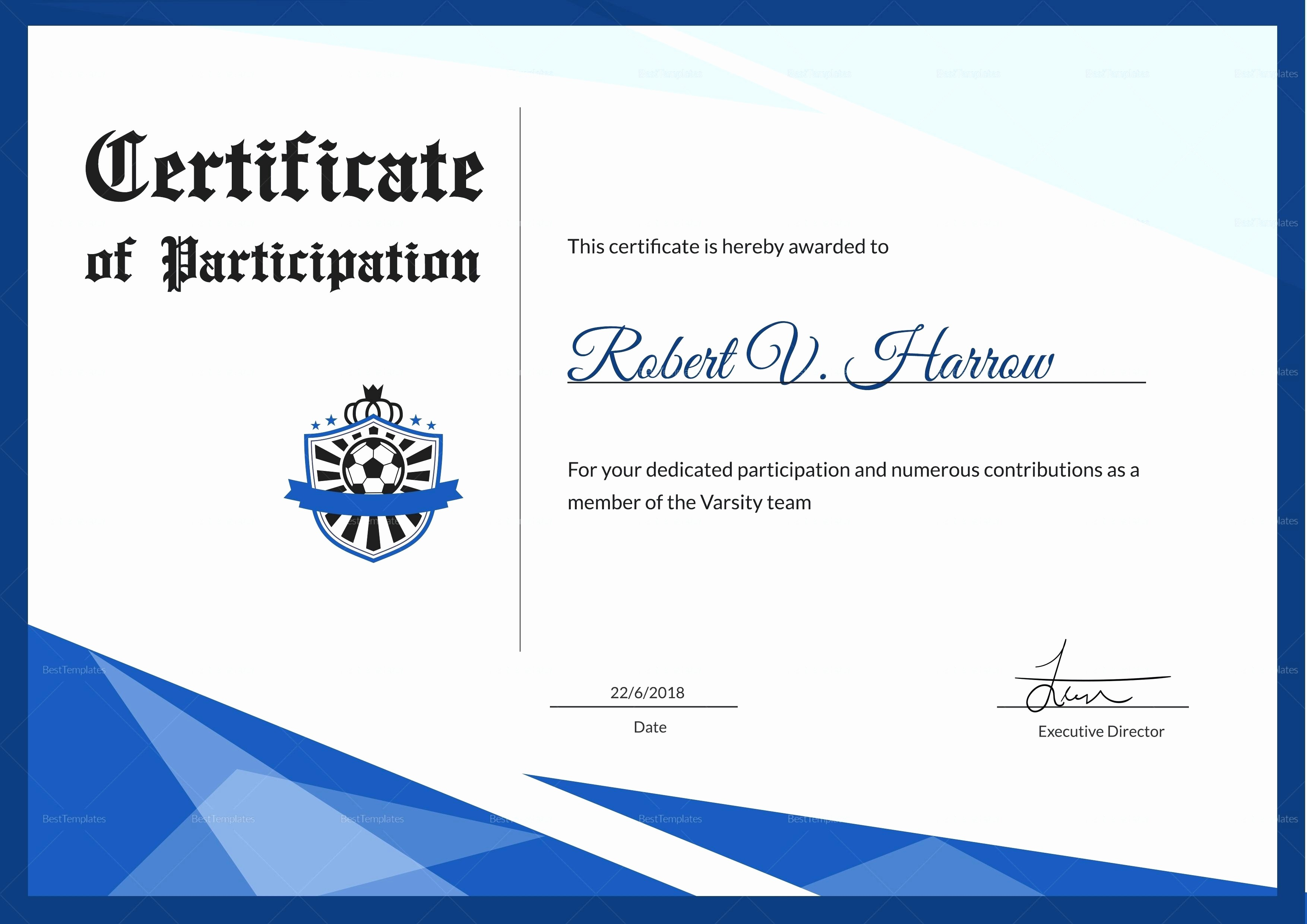 Sports Certificates Templates Free Download Luxury Template Sports Award Certificate Template Word