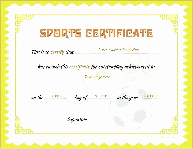 Sports Certificates Templates Free Download New Basketball Award Certificate Word Templates Sports Day