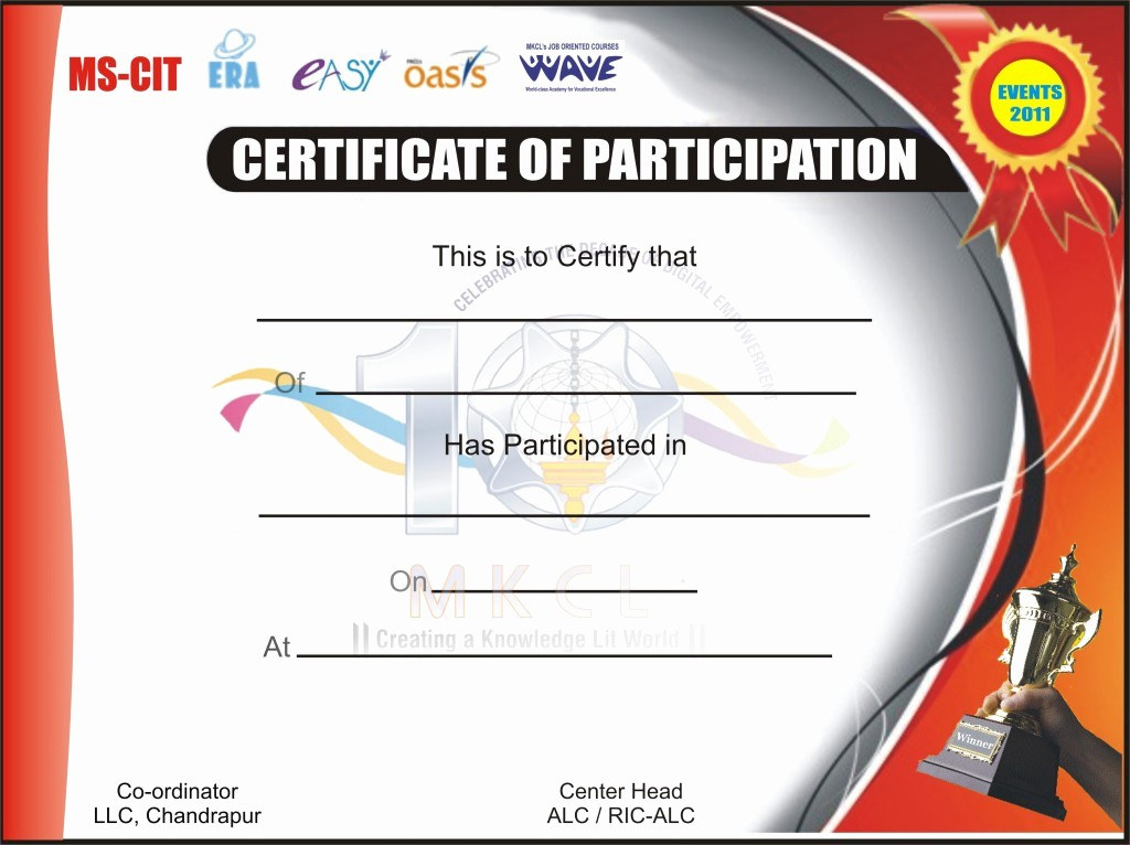 Sports Certificates Templates Free Download New event Participation Certificate Design Anushree Putech