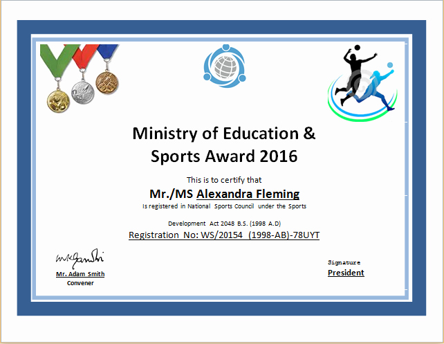 Sports Certificates Templates Free Download New Free Basketball Award Certificate Templates Sports