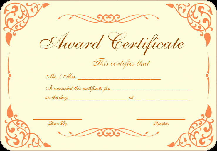 Sports Certificates Templates Free Download New New Pdf Award Certificate Template