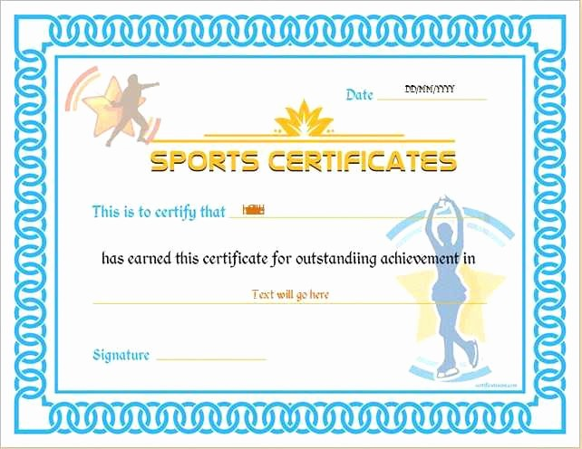 Sports Certificates Templates Free Download Unique 33 Fresh Junior Achievement Certificate Template Opinion