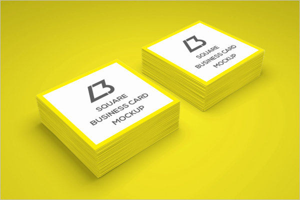Square Business Card Template Word Awesome 53 Square Business Card Templates Free Psd Word Designs