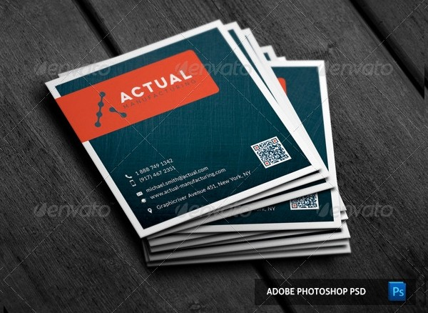Square Business Card Template Word Beautiful 22 Square Business Cards Free Psd Eps Illustrator