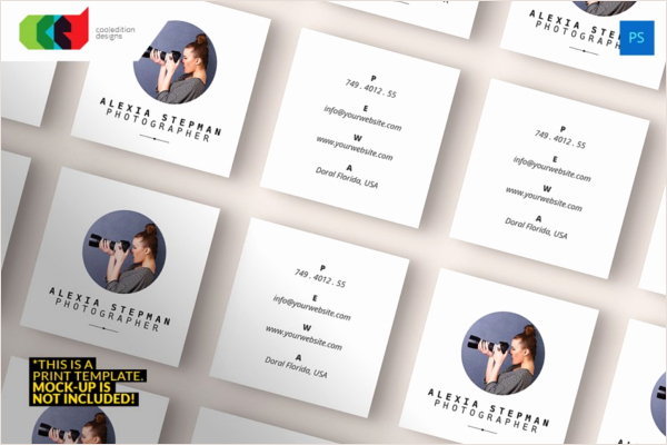 Square Business Card Template Word Beautiful 53 Square Business Card Templates Free Psd Word Designs