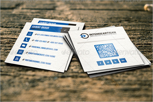 Square Business Card Template Word Elegant 53 Square Business Card Templates Free Psd Word Designs