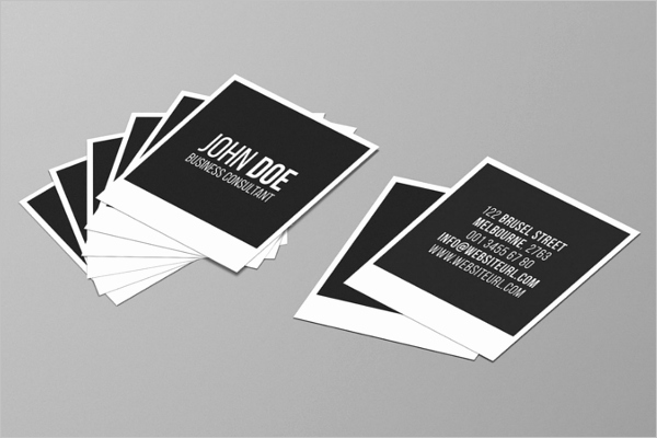 Square Business Card Template Word Inspirational 53 Square Business Card Templates Free Psd Word Designs
