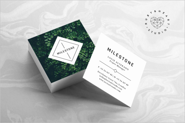 Square Business Card Template Word Luxury 53 Square Business Card Templates Free Psd Word Designs