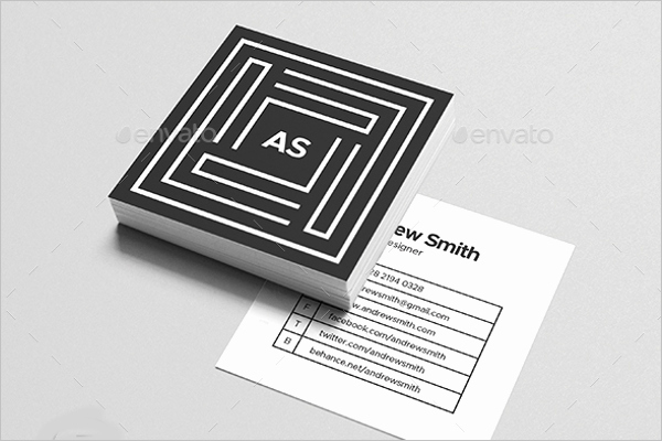 Square Business Card Template Word New 53 Square Business Card Templates Free Psd Word Designs