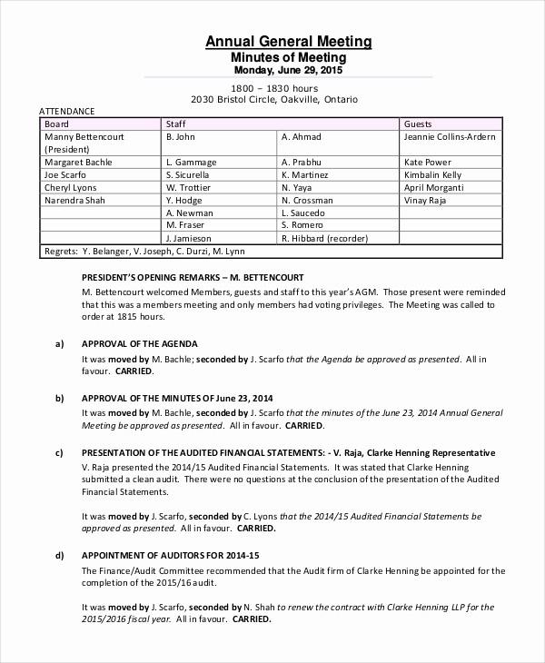 Staff Meeting Minutes Template Doc Elegant C Corp Annual Meeting Minutes Template Templates