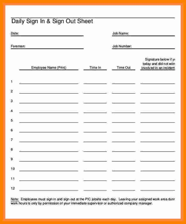 Staff Sign In Sheet Template Best Of 5 Employee Paycheck Sign Off Sheet