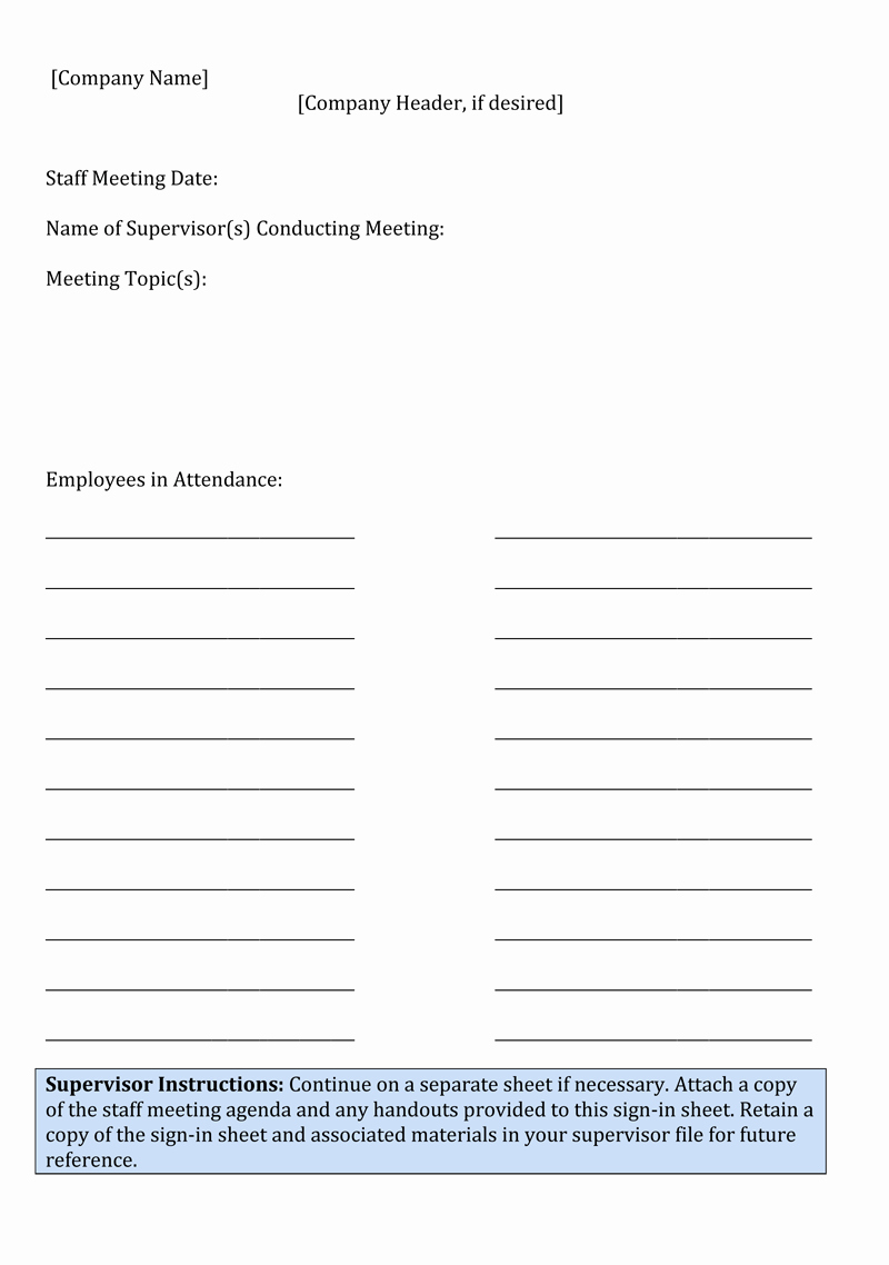 Staff Sign In Sheet Template New Sign In Sheet Template