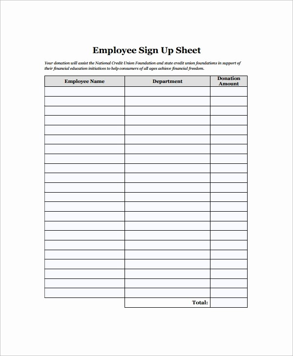 Staff Sign In Sheet Template Unique 16 Employee Sign In Sheets